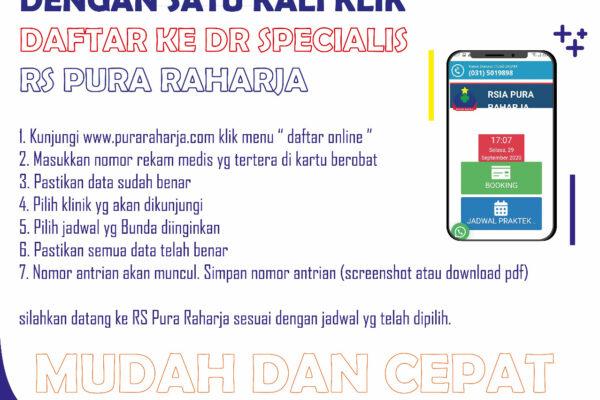 Daftar Online ke dokter spesialis RS Pura Raharja