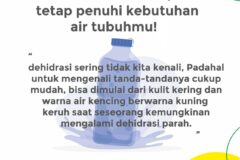 Suhu udara naik, jangan lupa minum air