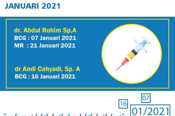 Jadwal Imunisasi MR dan BCG di RS Pura Raharja