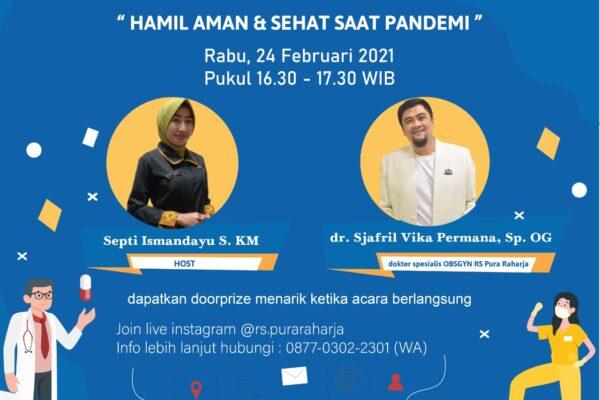 Health Talk Hamil Aman & Sehat saat Pandemi