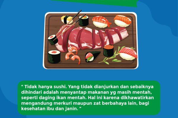 Fakta Ibu Hamil tidak boleh makan Sushi