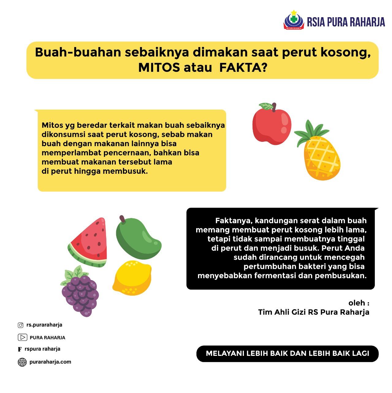 Buah-buahan sebaiknya Dimakan pada Saat Perut Kosong   MITOS atau FAKTA