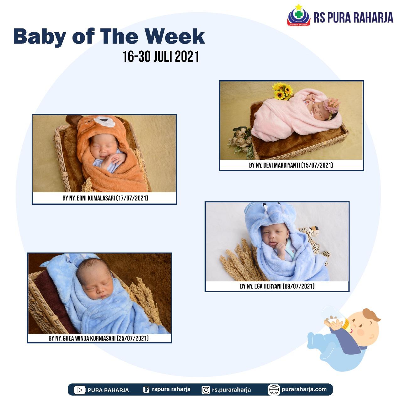 Baby of The Week 16 – 30 Juli 2021