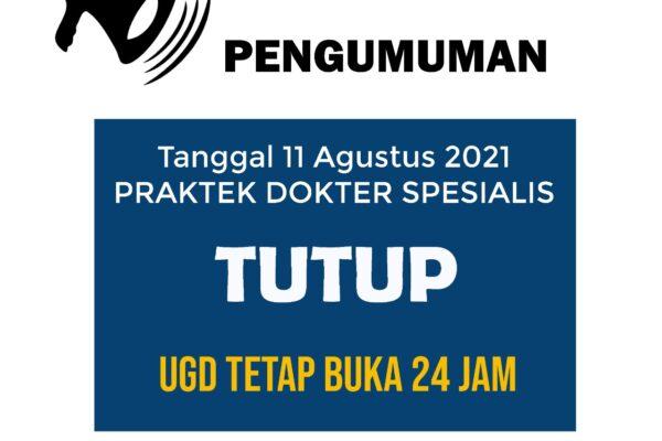 Informasi Dokter Spesialis 11 Agustus 2021